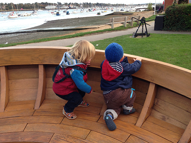 Playing by the water. Photo Gael Pawson.
