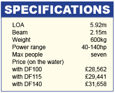 Ranieri 19S Specifications