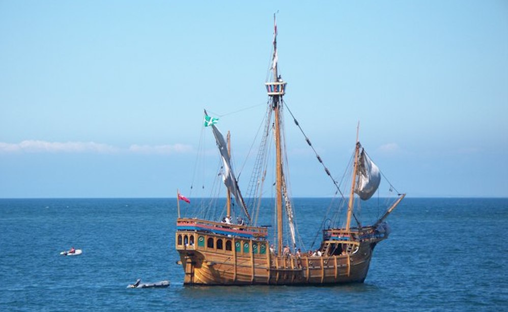 historic sea voyages: The Matthew