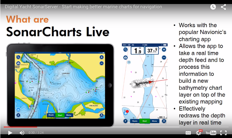 Navionics SonarChart live demonstration