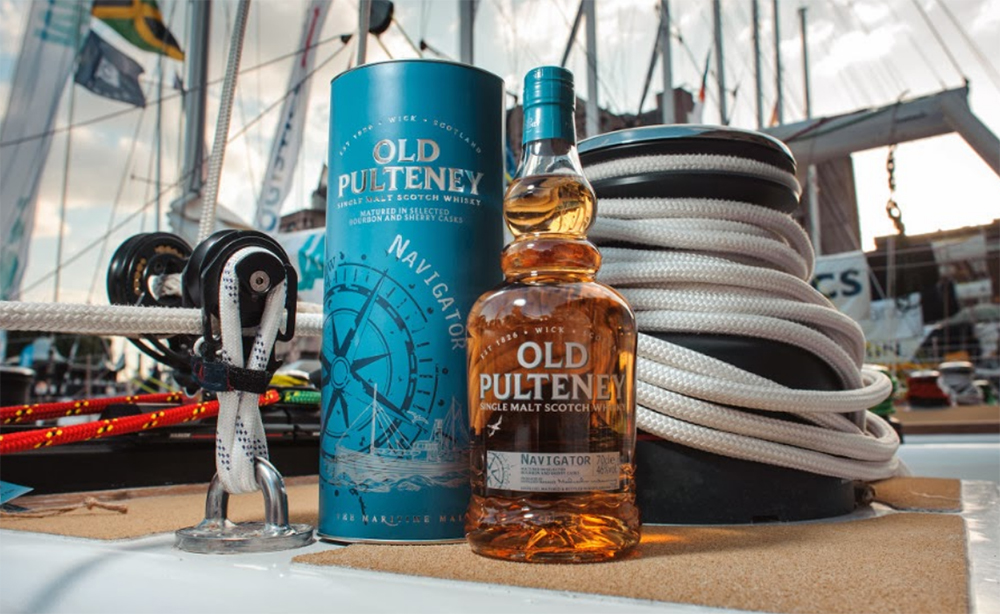 Old Pultney Navigator whisky.