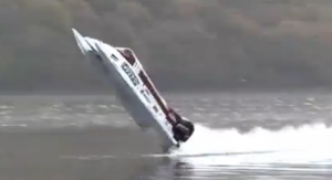 Amazing 134mph powerboat backflip