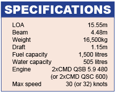 Sealine F48 Specifications