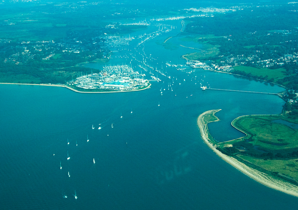 Hamble River from the air