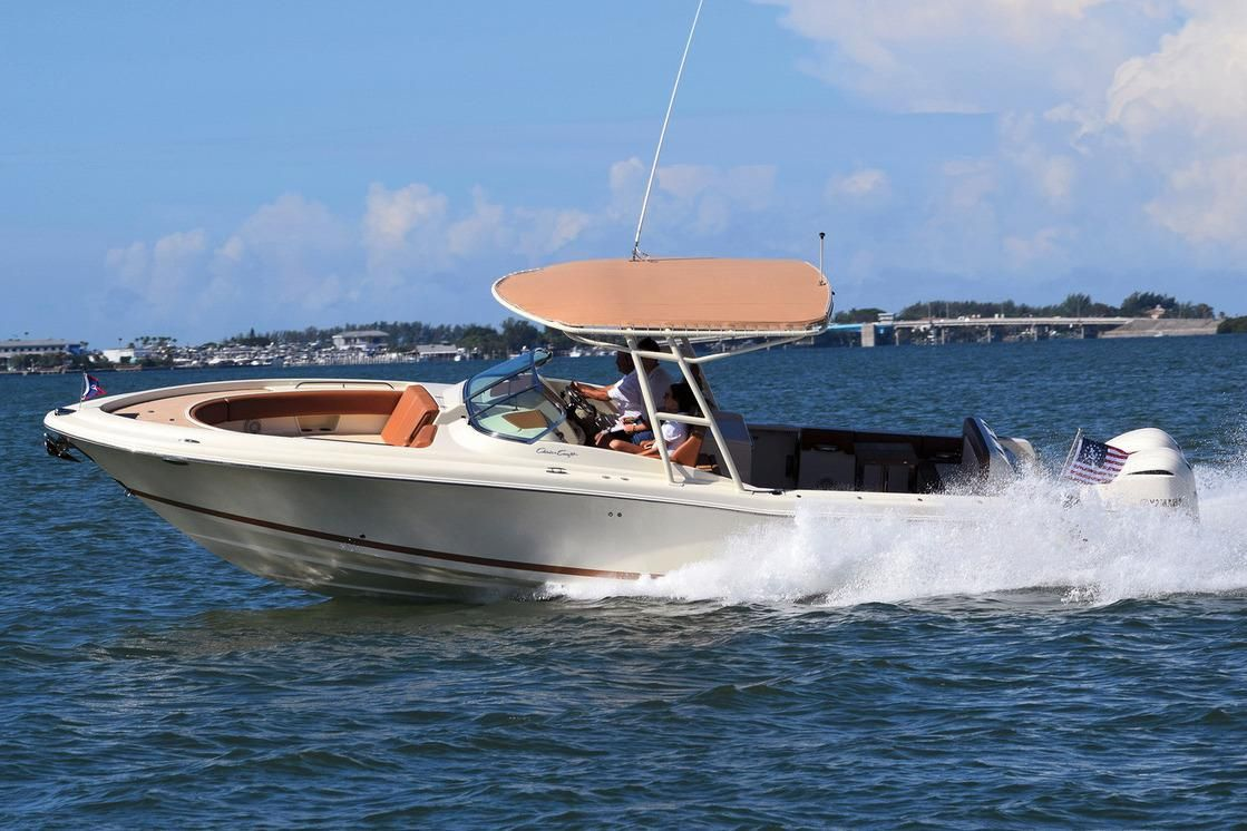 The Chris Craft Calypso 30 is the new flagship of this stylish luxury day boat line.