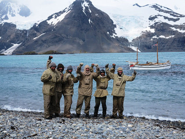 Shackleton Epic crew lands on South Georgia