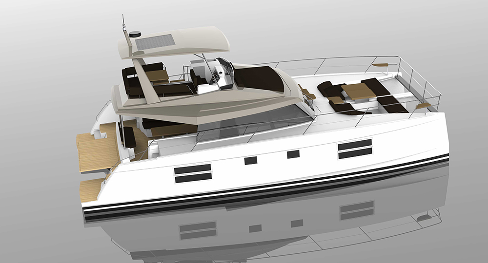 Nautitech 47: new twin-hulled motoryacht