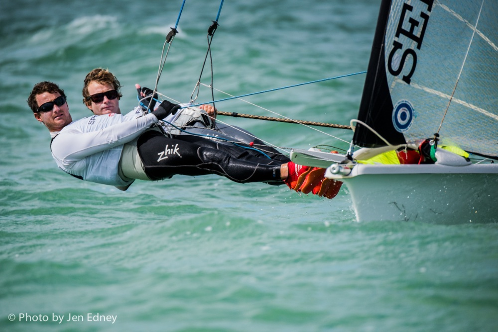 US Olympic Sailing: 49er class: Joe Morris and Thomas Barrows
