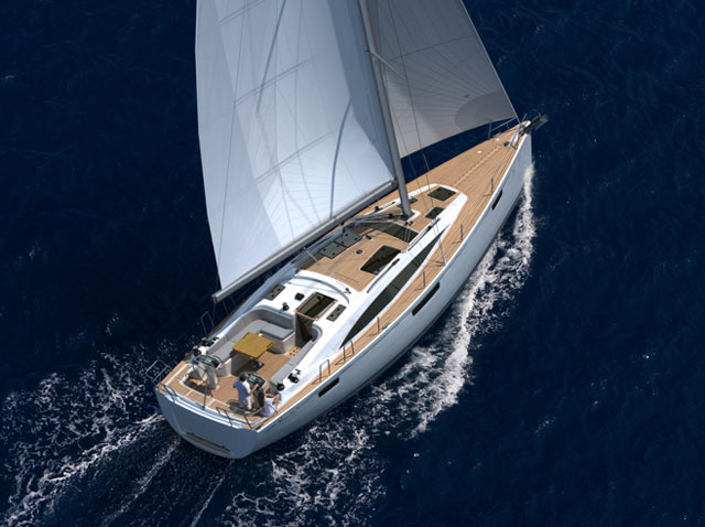 Bavaria Vision 46 under way