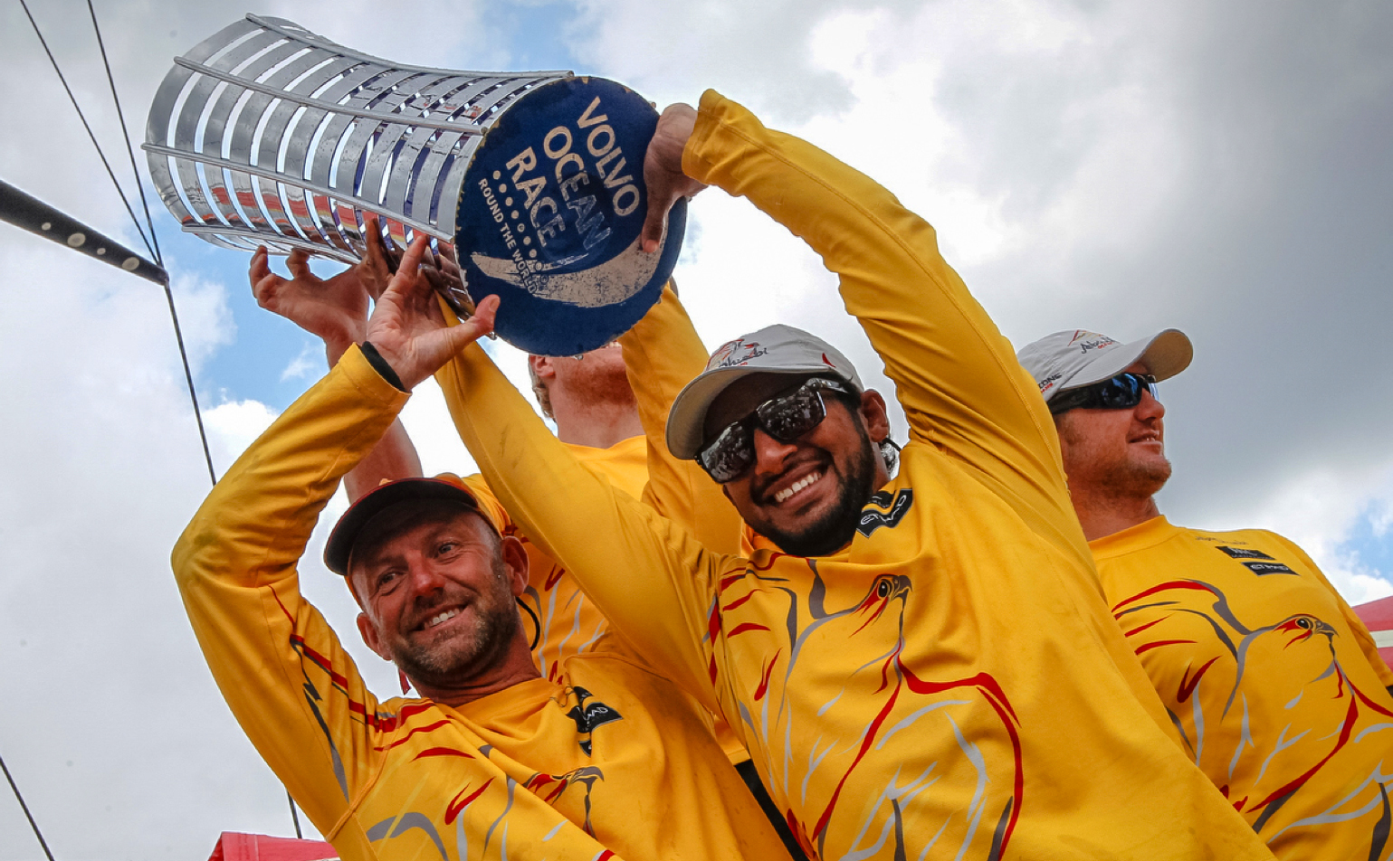 Ian Walker and Abu Dhabi win the Volvo Ocean Race 2014-15