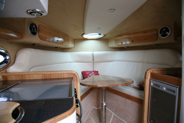 A classic sports cruiser cabin