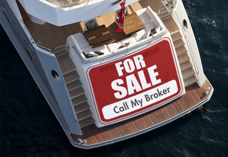 Yacht for sale with a broker