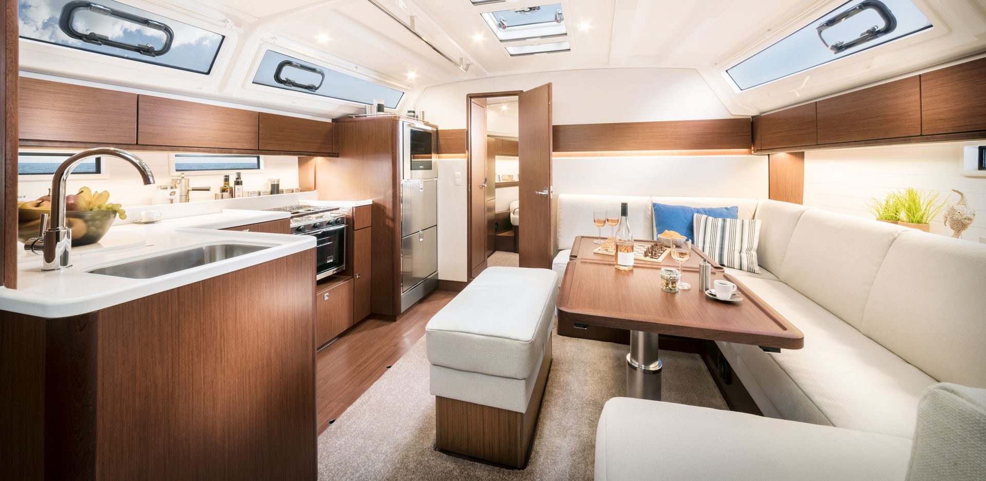 Bavaria Cruiser 46 Style saloon and galley