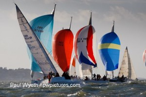 Hamble Winter Series fleet