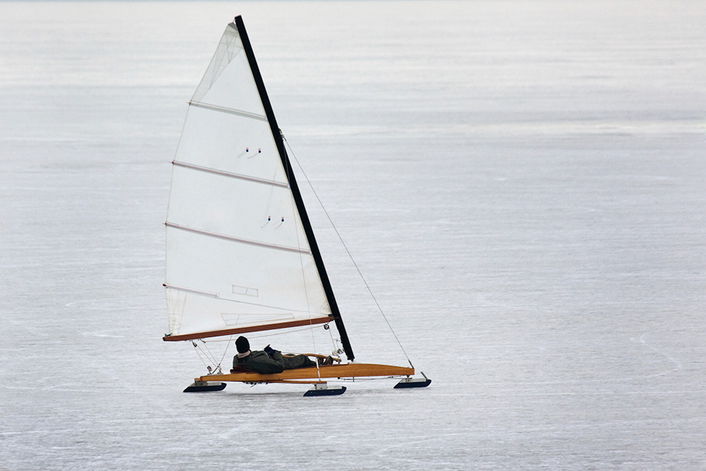Sailing on ice