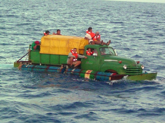 Truck boat from Cuba – homemade boats