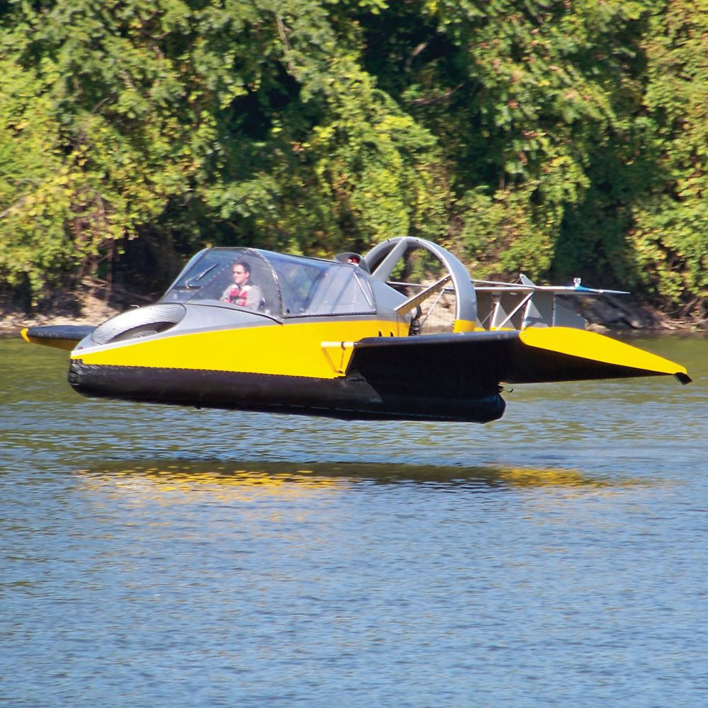 Five fabulous superyacht runabouts:  Hammacher Schlemmer flying hovercraft