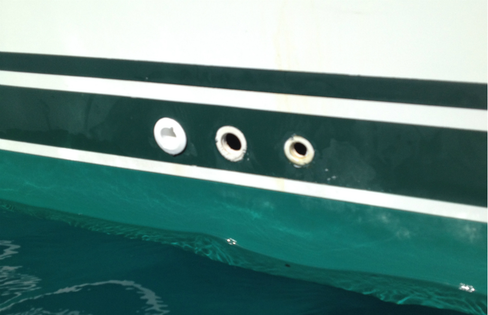 UV exposure can damage through-hull fittings above the waterline