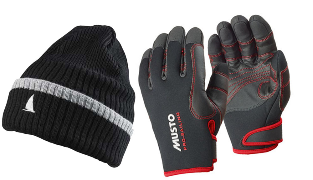 Musto hat and gloves