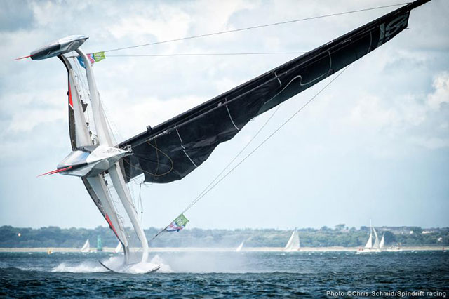 Spectacular Spindrift capsize: Irish gust flips leader