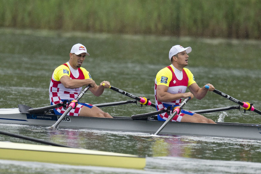 Olympic Rowing: Croatian double scull team Valent and Martin Sinkovic