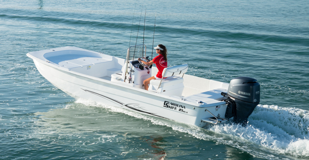 Carolina Skiff 2480 flat bottom fishing boat