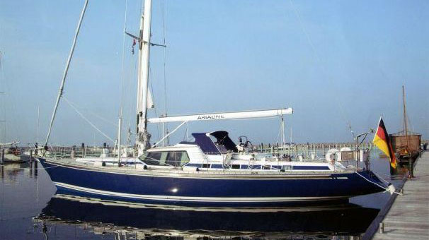 A photo of the Swan 57RS saiboat.