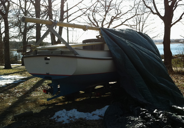 winter boat cover that came off