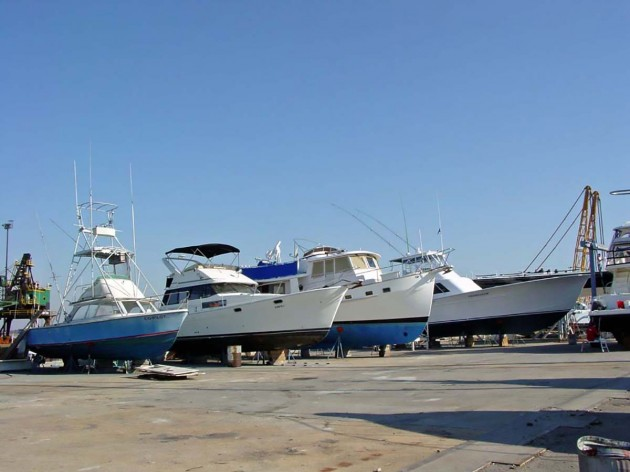 boats in a boat yard