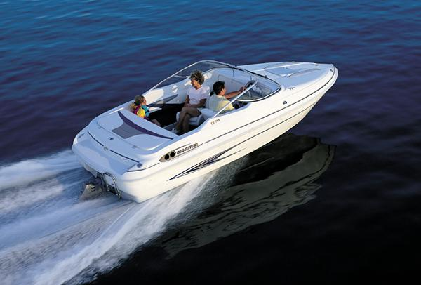 For runabouts, stern-drive propulsion packages are the most popular choice. (Photo courtesy Glastron)