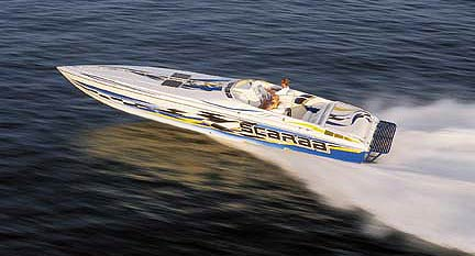 The Scarab 38AVS delivers an exhilarating and comfortable ride.