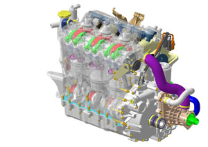 The new-for-2002 4-TEC closed-loop four-stroke engine produces 155 horsepower.