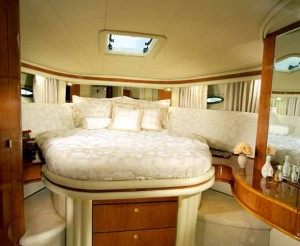 Elegance abounds in the 510 Sundancer's master stateroom.