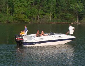 Ebbtide Campione 210 Fun Cruiser Deck Boat Boasts