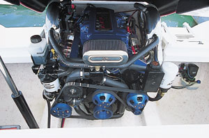 A 470-horsepower HP500EFI motor from Mercury Racing provided plenty of power.