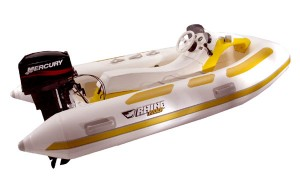 The Mercury Marine Rhino Rider (shown here) and Rhino RIB II are two of the toughest inflables on the market.