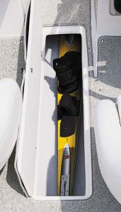 The in-sole ski locker should be deeper, as it would not hold a slalom ski with high-wrap bindings.