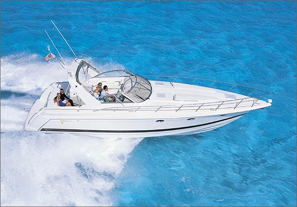 The 41 PC is a luxurious cruiser with performance-boat styling.