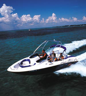 Yamaha's twin-engine AR210 is designed to handle a wide range of watersports towing duties.