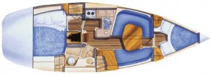 Legend 36 Interior Layout