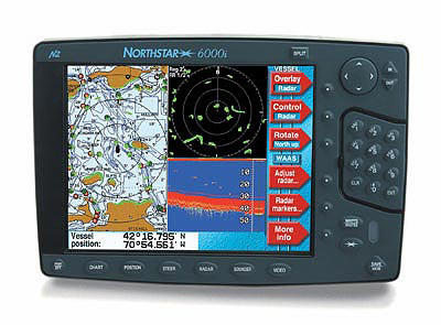 The 6000i Has GPS Plotter Depth Sounder Radar And Video Input Capabilities