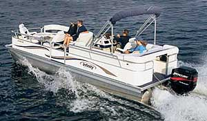 Like most pontoon boats, the M-824 CR is not a speed demon, but it did hit an apex of 24.6 mph.
