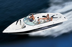 Top speed for the 262 Captiva Bowrider was 54.3 mph at 4500 rpm.