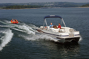 The layout of the 22 offers a pleasant blend of fishing functionality and cruising comfort.