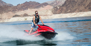 The author put the Ultra 250X Jet Ski through its paces on Lake Mead.