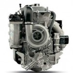 The new Yamaha 1.8-liter engine has a gear-driven, snail-shaped supercharger located on its forward end. The engine is more compact than the 1.0-liter Yamaha M1 engine used in other Yamaha watercraft and boats.