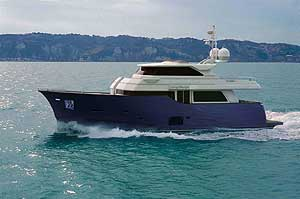 The builder says the new boat will cruise at 13.5 knots and hit a top speed of 16 knots with 800-horsepower MAN Common Rail engines.