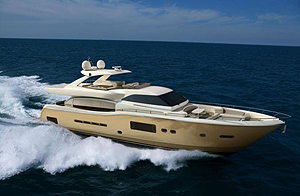 The new 84-footer is the flagship of the Altura line, which aims to bring the builder's stylish, go-fast reputation into a new segment of the motoryacht market.