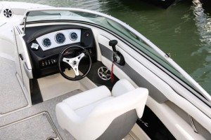 The Sea Ray 210 Select helm station
