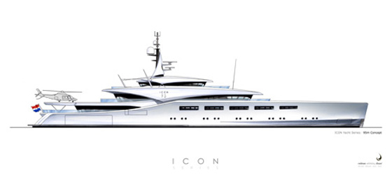 The ICON 95 has a long, sleek profile